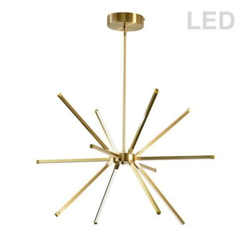 32w LED Chandelier Agb W/ Wh Acrylic Diffuser