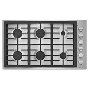 "Jenn-AirPro-Style® 36"" 6-Burner Gas Cooktop"