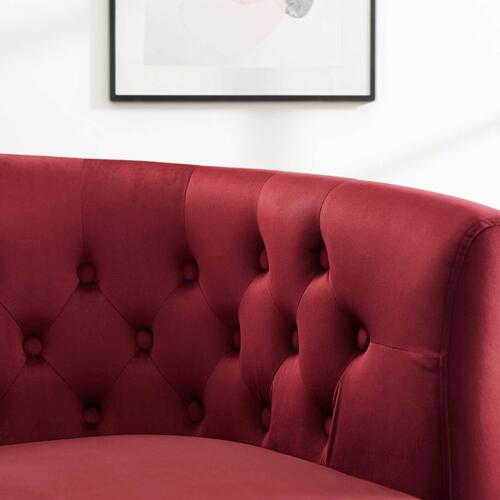Modway - Prospect Performance Velvet Armchair in Maroon