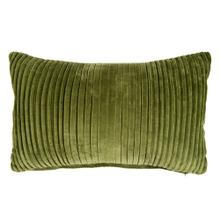 Maisie Lumbar Pleated Pillow, Green