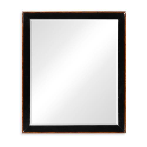 Black and walnut rectangular mirror (Large)