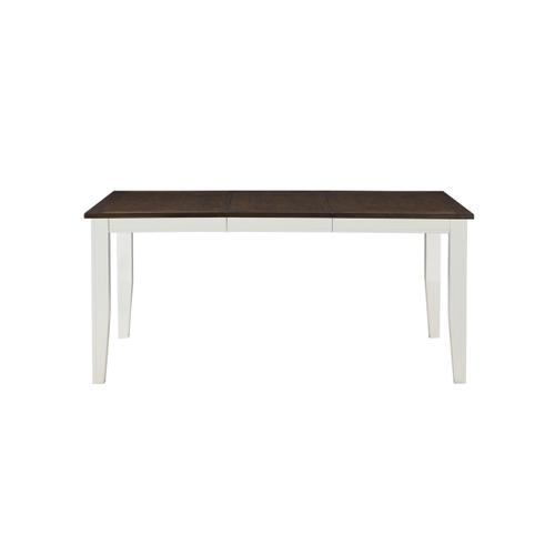 Merrill Creek Removable Leaf Dining Table, Deep Brown & White 8208-3866