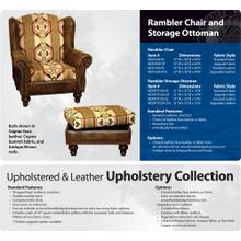 Rambler Chair and Ottoman