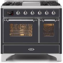 40 Inch Matte Graphite Dual Fuel Natural Gas Freestanding Range