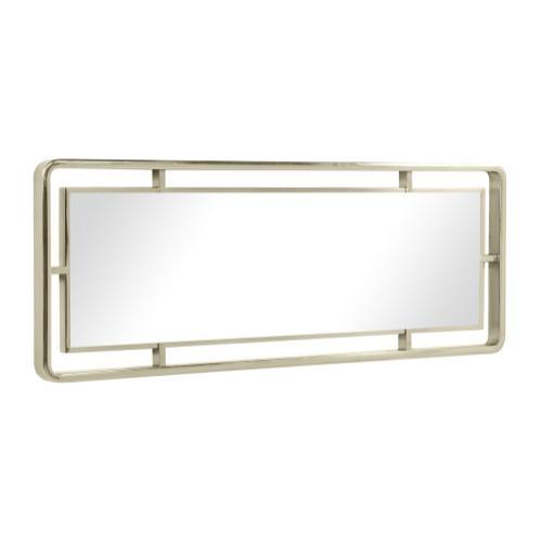 Madison Rectangular Rounded Corner White Stainless Steel Hanging Wall Mirror