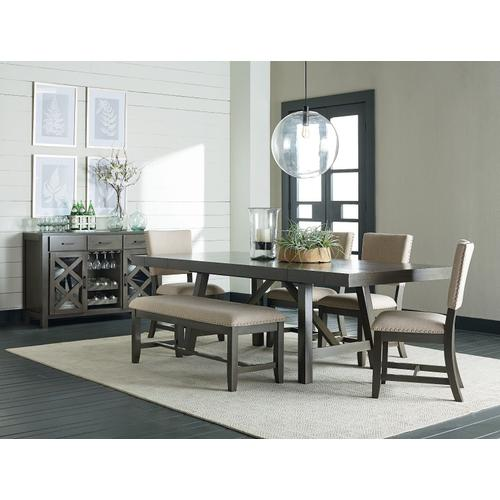 Gallery - Omaha Upholstered Bench with Grey Base
