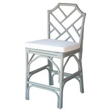 Kara Rattan Counter Stool, Gray