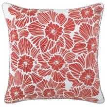 See Details - New Wild Rose Pillow, RED, 22X22