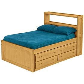 Captain's Bookcase Bed Drawer Set, Double