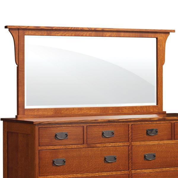 See Details - Prairie Mission Bureau Mirror, 68 'w x 27 'h