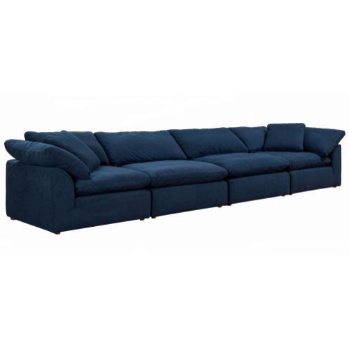 Cloud Puff Slipcovered Modular Sectional Sofa (4 Piece)