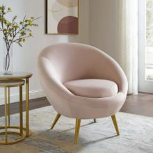 Circuit Performance Velvet Accent Chair in Pink