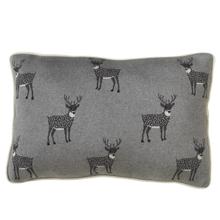 Reindeer Lumbar Knit Pillow
