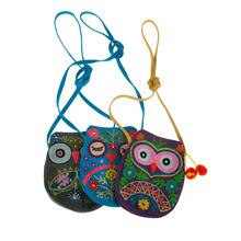 BTQ Embroidered Owl Purse - Ast 3