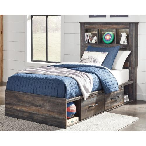 Drystan Twin Bookcase Bed With 2 Storage Drawers