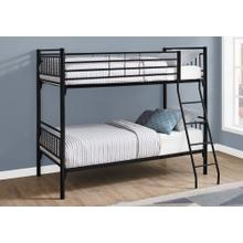 See Details - BUNK BED - TWIN / TWIN SIZE / DETACHABLE BLACK METAL