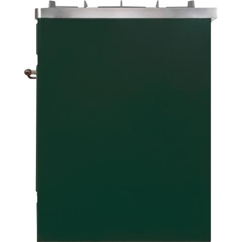 30 Inch Emerald Green Dual Fuel Natural Gas Freestanding Range