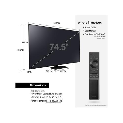 """Samsung - 75"""" Class QN85A Samsung Neo QLED 4K Smart TV (2021)"""
