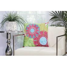 "Outdoor Pillows L1027 White 18"" X 18"" Throw Pillow"