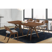 Cortina and Polly 5 Piece Walnut Rectangular Dining Set