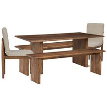 Dining Table and 2 Chairs and 2 Benches
