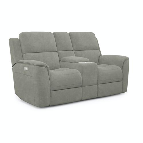 Flexsteel - Henry Power Reclining Loveseat with Console and Power Headrests and Lumbar