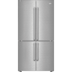 "Beko36"" French Four-Door Stainless Steel Refrigerator with auto Ice Maker, Water Dispenser"