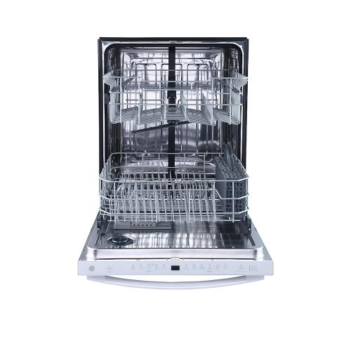 "GE 24"" Built-In Top Control Dishwasher with Stainless Steel Tall Tub White - GBT640SGPWW"