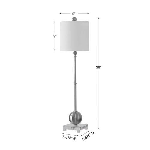 Uttermost - Laton Silver Buffet Lamp