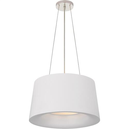 Visual Comfort BBL5089WHT Barbara Barry Halo 2 Light 19 inch White Hanging Shade Ceiling Light, Small