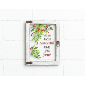 Window Plaque - It's the most wonderful time of the year