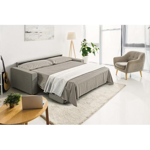 Modrest Made in Italy Urrita - Modern Gray Fabric Sofa Bed w/ Queen Size Mattress