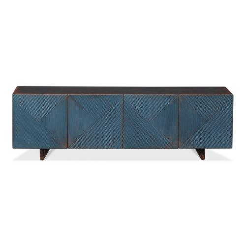 Low Wall Console For Tv, Blue