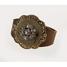 BTQ Leather Cuff Bracelet with 3 Pendants