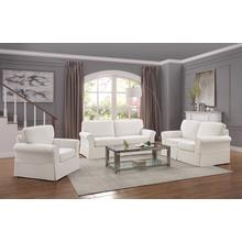 Ashton Slipcover Sofa Cottage Style In Ivory Fabric