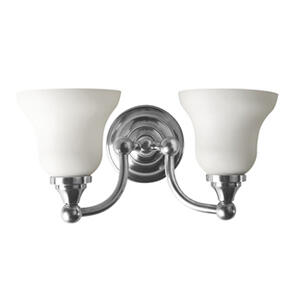 Kingston Double Wall Light With Frosted Glass Shades