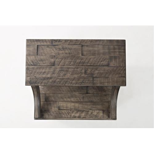 Tremblant End Table- Rustic Platinum