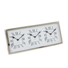 7107019 - Clock 41x16x3 cm KELSTON antique white-nickel