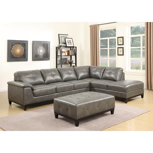 Emerald Home Marquis 2pc Sectional W/6 Seats Grey U4289m-11-12-13-k