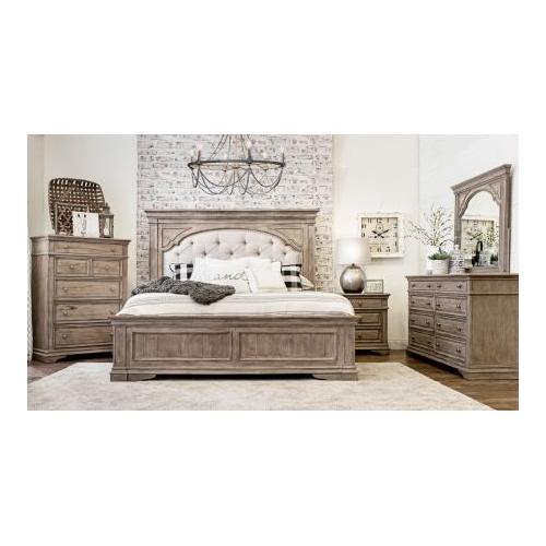 Highland Park Queen Bed, Waxed Driftwood