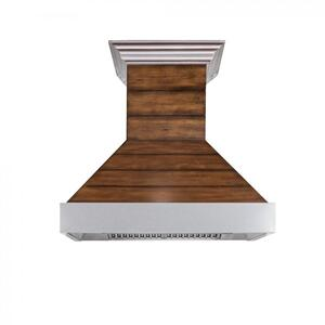 Zline KitchenZLINE Shiplap Wooden Wall Range Hood with Stainless Steel Accent - Includes Motor (365BB) [Size: 36 Inch]