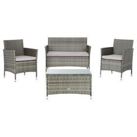 Bandele 4pc Living Set - Grey / Grey