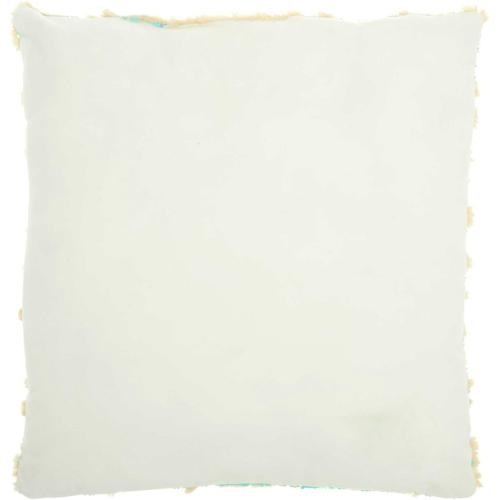 "Fur Vv201 Multicolor 20"" X 20"" Throw Pillow"