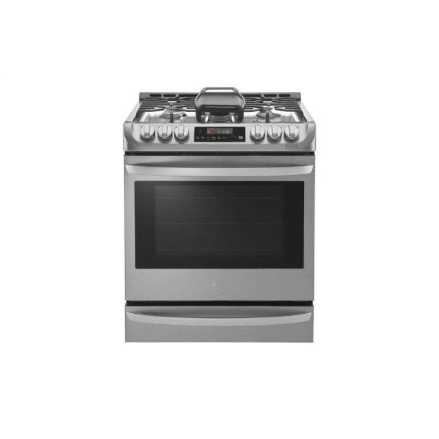 LG Appliances 6.3 cu. ft. Smart wi-fi Enabled Gas Single Oven Slide-in Range with ProBake Convection®