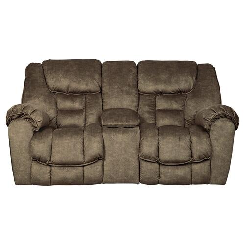 Capehorn Double Reclining Loveseat with/Console Earth