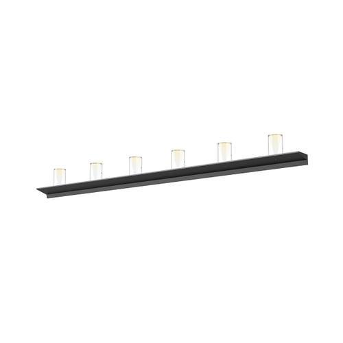 "Sonneman - A Way of Light - Votives LED Wall Bar [Size=6', Color/Finish=Satin Black, Shade Size=4.5"" height x 2.75"" diameter]"