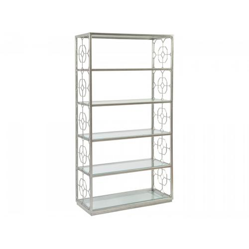 Silver Leaf Honeycomb Etagere