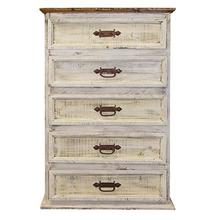 """See Details - Chest : 34"""" x 19"""" x 51"""" White Wash Collection"""