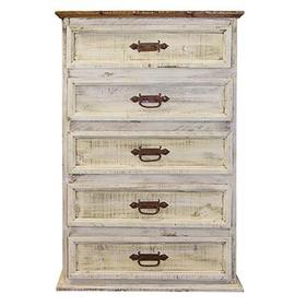 "Chest : 34"" x 19"" x 51"" White Wash Collection"