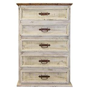 """L.M.T. Rustic and Western Imports - Chest : 34"""" x 19"""" x 51"""" White Wash Collection"""
